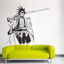 สติกเกอร์ติดผนัง Kenpachi Zaraki from Bleach Wall Decal (WD-0287)