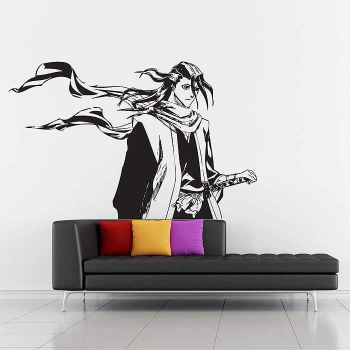 Tattoo Wall Art byakuya from bleach vinyl wall art decal
