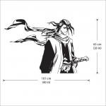 สติกเกอร์ติดผนัง บลีช เทพมรณะ Kuchiki Byakuya from Bleach Wall Sticker