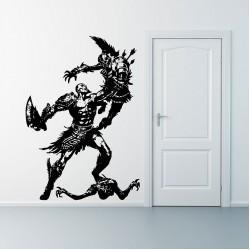 สติกเกอร์ติดผนัง Kratos God of War  Wall Sticker (WD-0296)