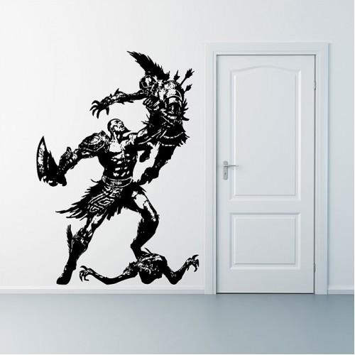 สติกเกอร์ติดผนัง Kratos God of War Wall Sticker