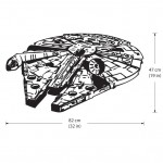 Star Wars Millennium Falcon V2 Vinyl Wall Art Decal