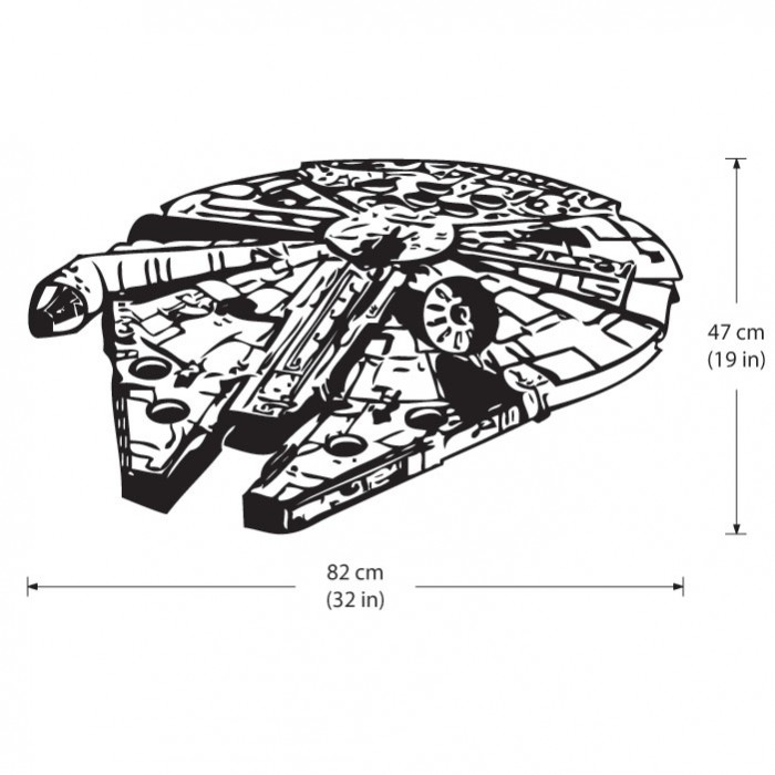 star wars millennium falcon v2 wandaufkleber wandtattoo. Black Bedroom Furniture Sets. Home Design Ideas