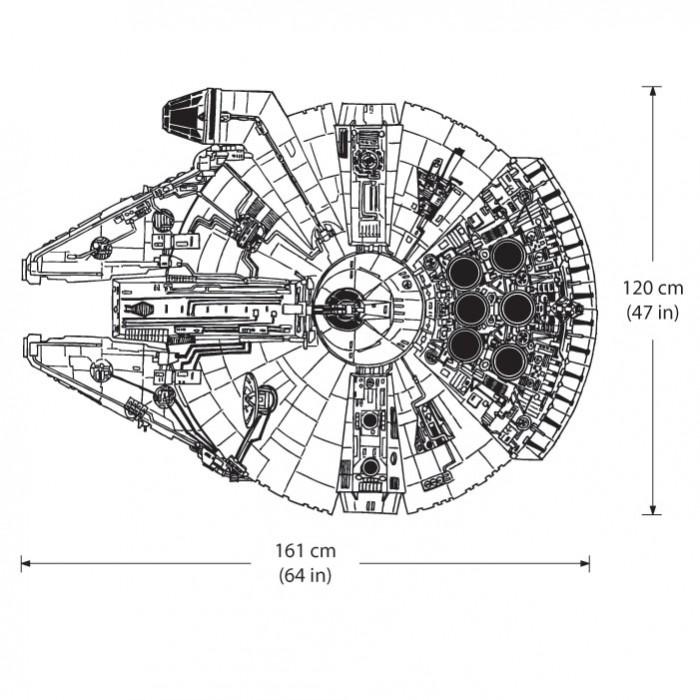 ... Star Wars Millennium Falcon Vinyl Wall Art Decal