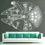 Star Wars Millennium Falcon Vinyl Wall Art Decal