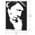 สติกเกอร์ติดผนัง ภาพ Tom Waits P.1Wall Sticker