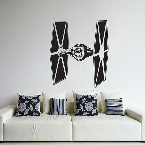 star wars tie fighter wandaufkleber wandtattoo. Black Bedroom Furniture Sets. Home Design Ideas