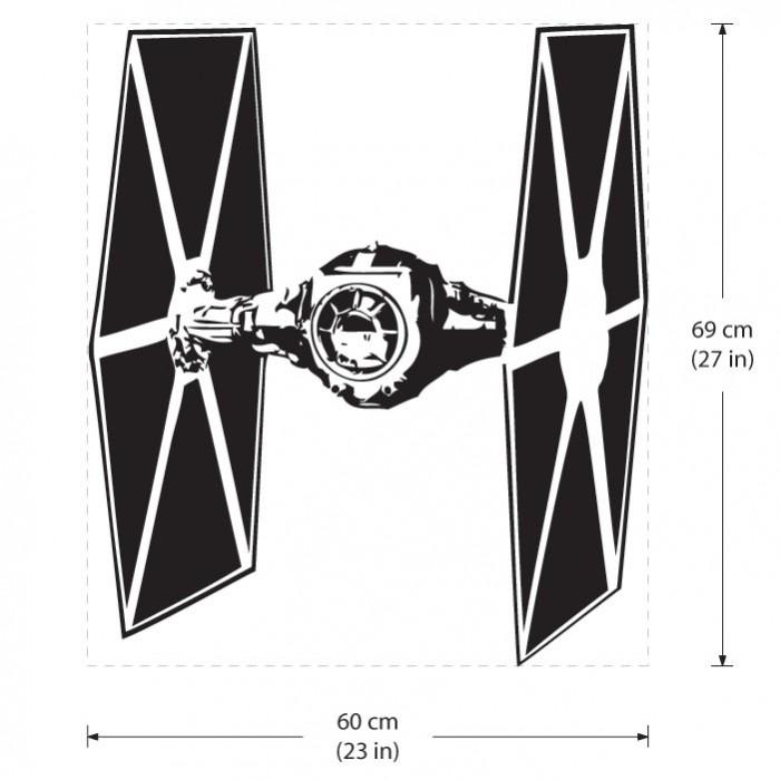 Star Wars TIE Fighter Vinyl Wall Art Decal