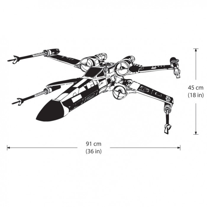 Wd Star Wars Wing Fighter Wall Sticker Dimension Resize Lego Decal