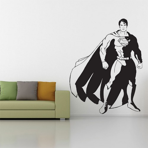 สติกเกอร์ติดผนัง Superman the man of steel Wall Sticker