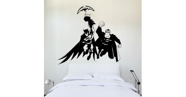 Batman superman wandaufkleber wandtattoo for Batman wandtattoo