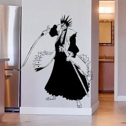 สติกเกอร์ติดผนัง Kenpachi Zaraki from Bleach Anime Wall Sticker (WD-0312)