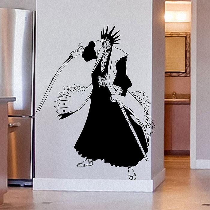 Anime Wall Art zaraki from bleach anime vinyl wall art decal