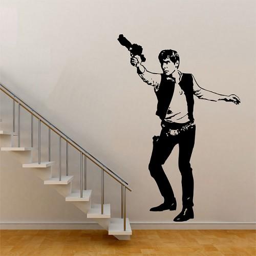 สติกเกอร์ติดผนัง Star Wars Han Solo Wall Sticker
