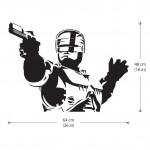 สติกเกอร์ติดผนัง Robocop Riot Cyborg Wall Sticker