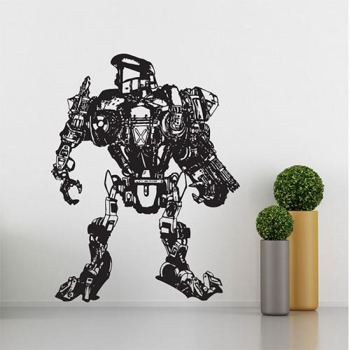 สติกเกอร์ติดผนัง Robocop 2 Cain Robot Wall Sticker