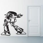 สติกเกอร์ติดผนัง ภาพ โรโบคอป Robocop ED209 Wall Sticker