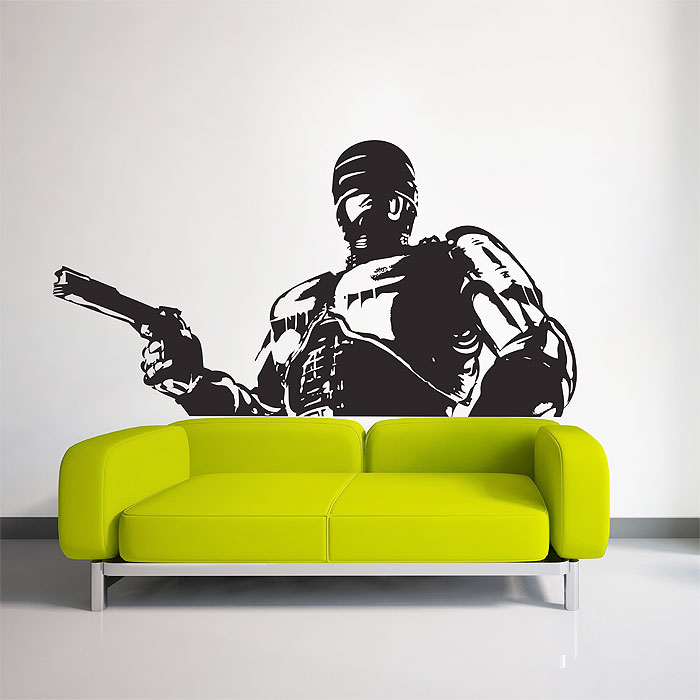 Robocop cyborg dead or alive vinyl wall art decal