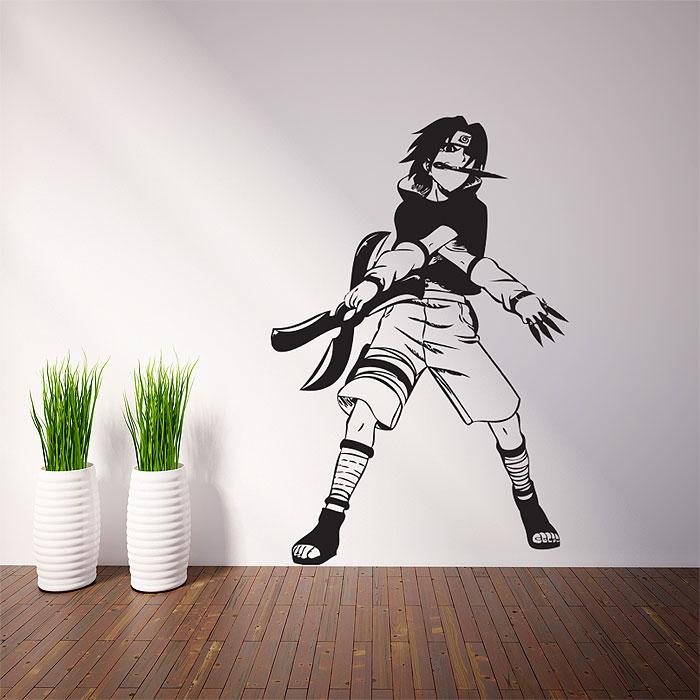 sasuke uchiha naruto vinyl wall art decal