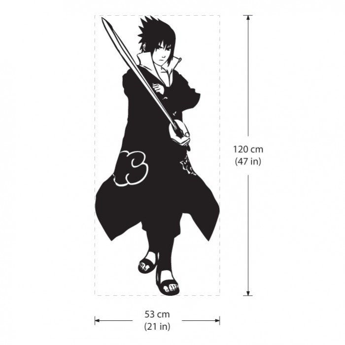 Shippuden Sasuke Naruto Vinyl Wall Art Decal