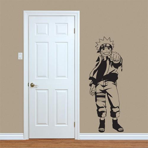 สติกเกอร์ติดผนัง  นินจานารูโตะ Naruto Uzumaki Hero Wall Sticker