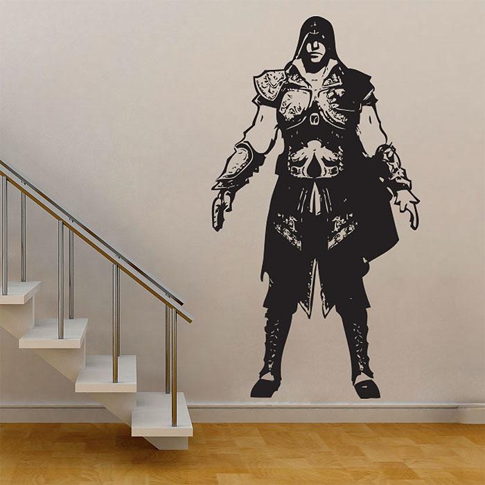 Assassinu0027s Creed 2 Ezio Vinyl Wall Art Decal (WD-0345)