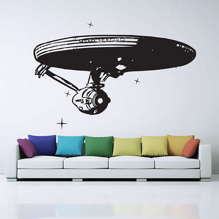 star trek enterprise raumschiff wandaufkleber wandtattoo. Black Bedroom Furniture Sets. Home Design Ideas