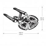 สติกเกอร์ติดผนัง Star Trek Enterprise NCC 1701 Spaceship Wall Sticker