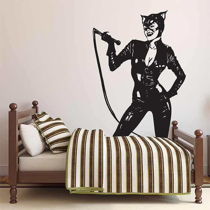 wyman catwoman wandaufkleber wandtattoo. Black Bedroom Furniture Sets. Home Design Ideas