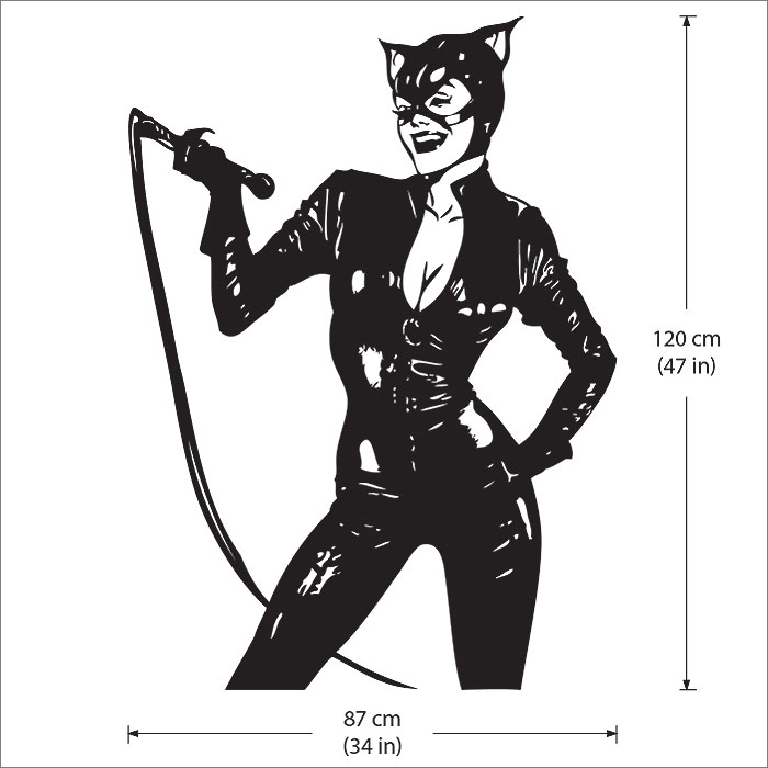 Wyman catwoman vinyl wall art decal
