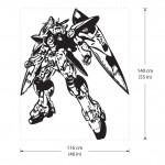 สติกเกอร์ติดผนัง Gundam Zero Wing Wall Sticker