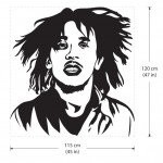 สติกเกอร์ติดผนัง Bob Marley One love the reggae bands Wall Sticker