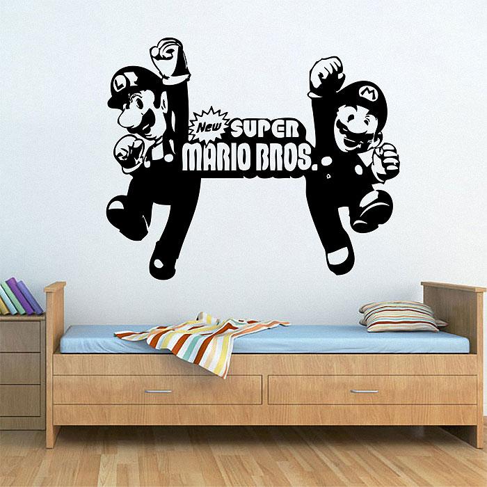 super mario bros wandaufkleber wandtattoo. Black Bedroom Furniture Sets. Home Design Ideas