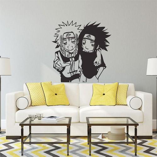 สติกเกอร์ติดผนัง Tomadachi Naruto und Sasuke Wall Decal