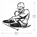 สติกเกอร์ติดผนัง DJ Mixing his record Wall Sticker