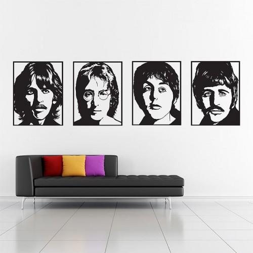 สติกเกอร์ติดผนัง The Beatles Wall Sticker