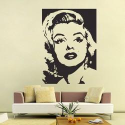 สติกเกอร์ติดผนัง  มาริลิน มอนโร Marilyn Monroe  Wall Sticker (WD-0362)