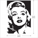 สติกเกอร์ติดผนัง Marilyn Monroe Wall Sticker