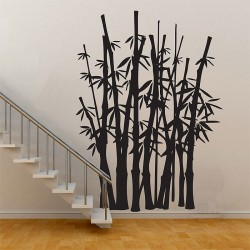 สติกเกอร์ติดผนัง Bamboo Tree Wall Sticker (WD-0364)