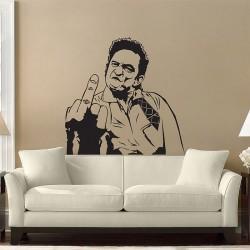 สติกเกอร์ติดผนัง Johnny Cash 's Middle Finger Wall Decal (WD-0367)