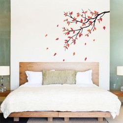 Autumn Leaf Fall Tree Branch Vinyl Wall Art Decal (WD-0372)