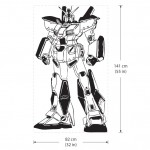 Alex Gundam G-4 Roboter Vinyl Wall Art Decal