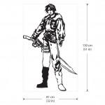 สติกเกอร์ติดผนัง Squall Leonhart V.3 Final Fantasy Wall Sticker