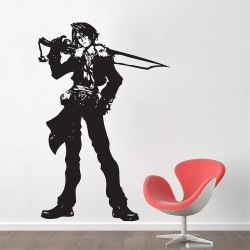 สติกเกอร์ติดผนัง Squall Leonhart V.2 Full Body Final Fantasy VIII Wall Sticker (WD-0385)