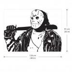 สติกเกอร์ติดผนัง Jason Voorhees of Friday the 13th Wall Decal