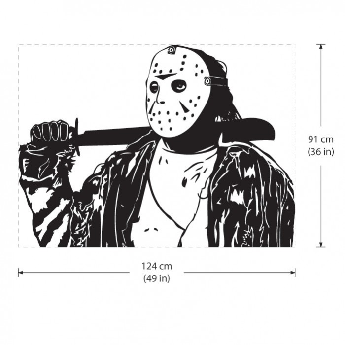 Voorhees Friday 13th Vinyl Wall Art Decal Jason Coloring Pages