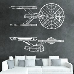 สติกเกอร์ติดผนัง USS Enterprise NCC 1701 Serie 1 Star Trek Wall Decal (WD-0391A)