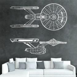 สติกเกอร์ติดผนัง USS Enterprise NCC 1701 Serie 1 Star Trek Wall Decal (WD-0391A)