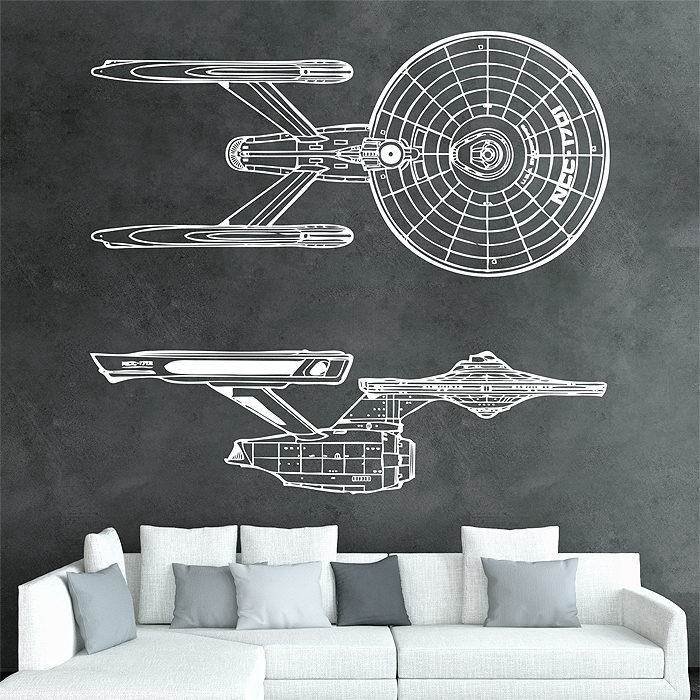 & Star Trek Vinyl Wall Art Decal