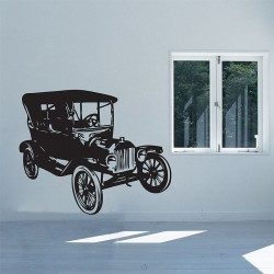 Car Vintage FORD Model EST. 1908 an American Classic Vinyl Wall Art Decal (WD-0393)